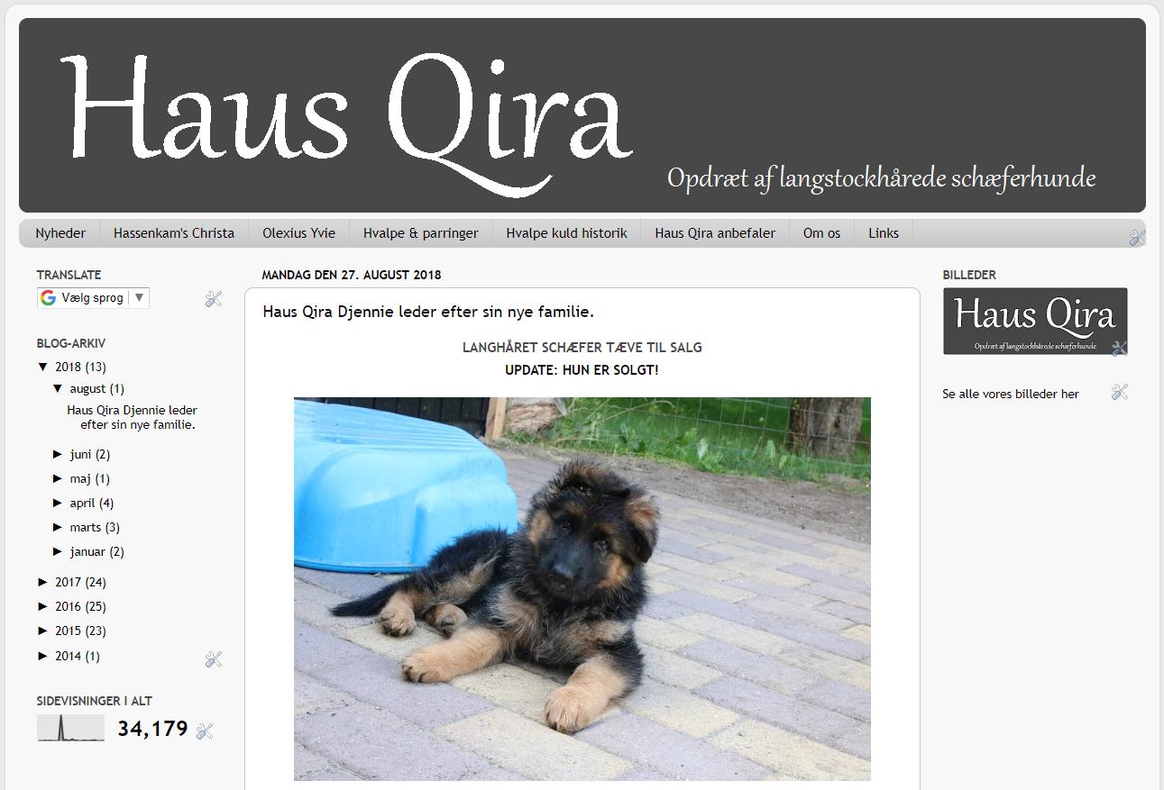 Haus Qira's har fået ny hjemmeside